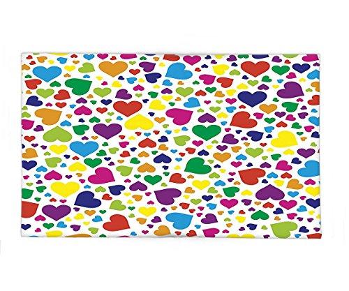 Interestlee Fleece Throw Blanket Love Decor Hearts Rainbow Vibrant Colors Love Honeymoon Joyful Fun Cheering - South Shopping San Francisco