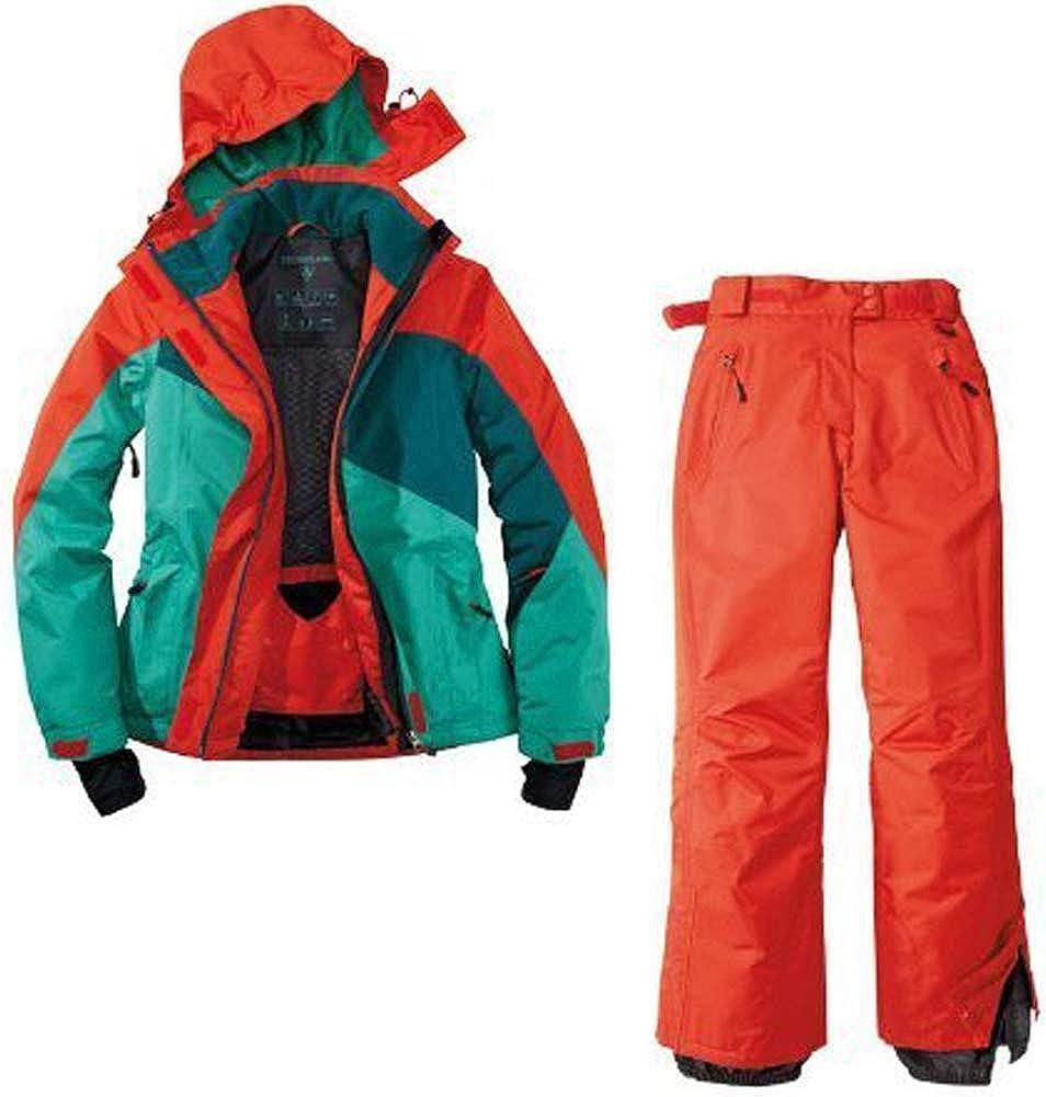 Crivit Damen Skianzug Schneeanzug Skijacke Skihose 2 Teilig Rot Gr/ün Wasserabweisend
