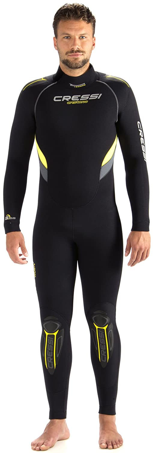 Cressi Castoro Man, Muta Subacquea in Neoprene High Stretch 5mm per Uomo