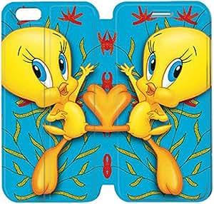 Cuero del tirón de la cubierta del Funda de la PU para el Funda iPhone 6 Caja del teléfono celular de 4,7 pulgadas Piolín 6 K8J2XW Funda iPhone Plástico Moda de cuero del Funda