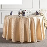 DIDIDD Hotel Tablecloth Continental Restaurant Table Linen Home Coffee Table Table Cloth Tablecloth,F,diameter300cm(118inch)