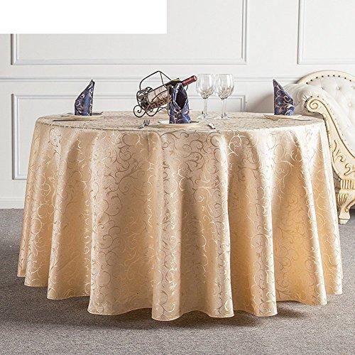 DIDIDD Hotel Tablecloth Continental Restaurant Table Linen Home Coffee Table Table Cloth Tablecloth,F,diameter300cm(118inch) by DIDIDD