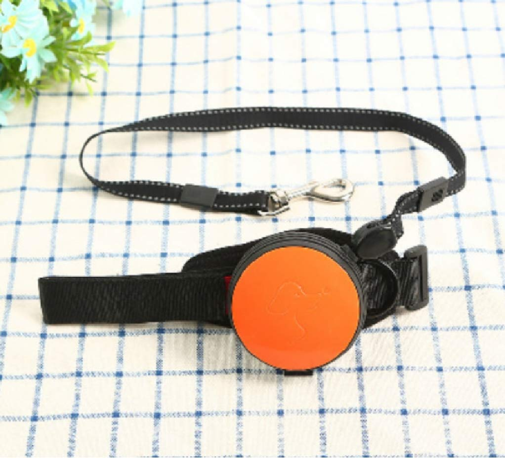 orange  3 meters long LANJINGCPet wrist traction rope nylon dog chain 3 m explosionproof traction belt dog leash