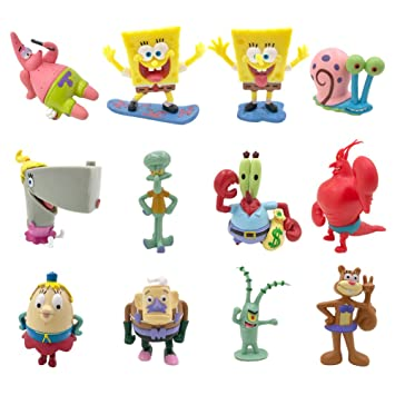 JAMOR SpongeBob 12Pcs,Patrick Star,Squidward Tentacles,Eugene H  Krabs Wait
