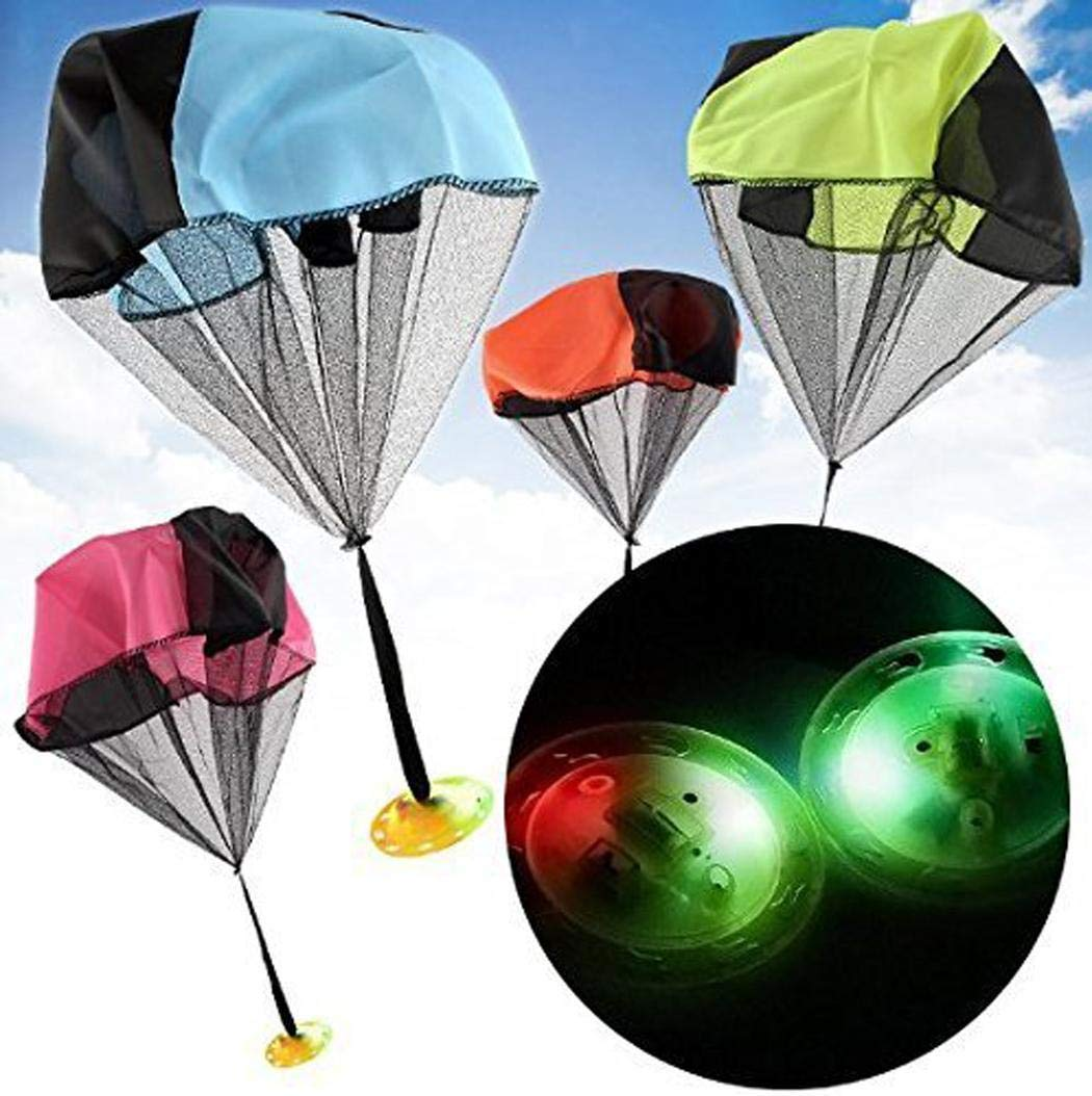 Bifast Hand Throwing Flash Light Frisbee Parachute Toy Child Game Gift Toy by Bifast