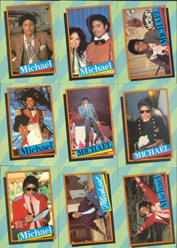 Card Jackson Trading - MICHAEL JACKSON SERIES 2 1984 TOPPS COMPLETE BASE CARD SET OF 33 NO STICKERS