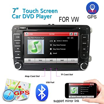 Car Stereo HD 7 Inch Double 2 Din GPS Navigation CD DVD auto Audio Video Player