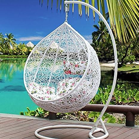 Al aire libre Swing para colgar silla mecedora de mimbre interior cestas balcón muebles sillas Continental: Amazon.es: Jardín
