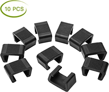 Ahier 10PCS Patio Furniture Clips, WickerFurnitureClips, OutdoorFurnitureClips, Patio Furniture Clips Sofa Fasteners Connector Clips for Rattan Furniture Garden Sofa(S)
