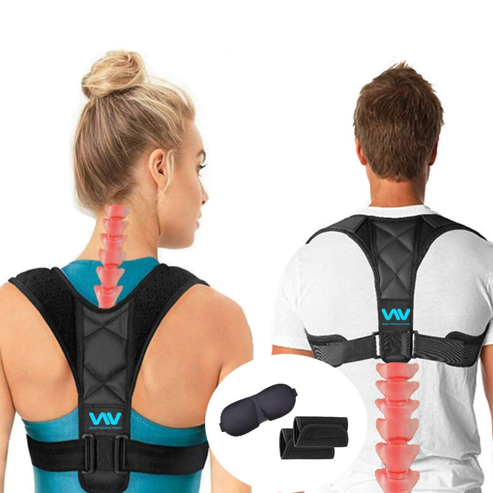 Posture Corrector for Women Men, Adjustable Upper Back Corrector Brace for Clavicle Support and Pain Relief from Neck, Back & Shoulder, Posture Trainer and Straightener by SKYWEE