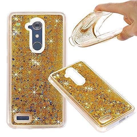 ZTE ZMAX Pro Case, ZTE Carry Z981 Case, NOKEA Soft TPU Flowing Liquid Floating Luxury Bling Glitter Sparkle Case Cover Fashion Design for ZTE ZMAX Pro / Carry Z981 (Zte Zmax Phone Case Animals)