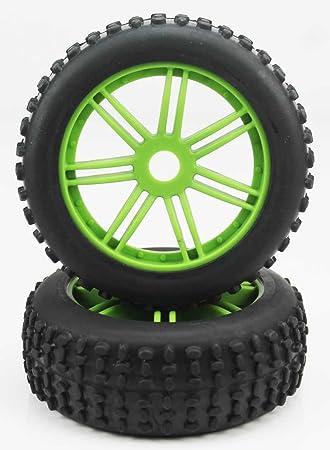 K Force Racing - Ruedas Buggy Coche RC Escala 1-8 Verdes - KF22038+26012: Amazon.es: Juguetes y juegos