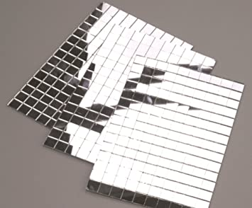 150 Silver Self Adhesive Mirror Mosaic Tiles 10mm Amazoncouk