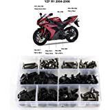Black Complete Motorcycle Fairing Bolt Kit For Yamaha YZF-R1 1998-1999 Body Screws Fasteners and Hardware