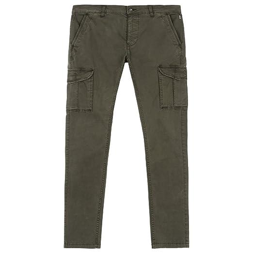 NAPAPIJRI pantalones de hombre con bolsillos N0YGSAGC2 MOTO VERDE 1 TRAMO  WINT 35 Verde militare: Amazon.es: Ropa y accesorios