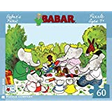 New York Puzzle Company - Babar Babar's Picnic - 60 Piece Jigsaw Puzzle