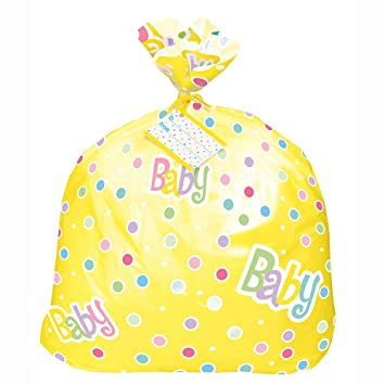 Amazon Jumbo Plastic Polka Dot Baby Shower Gift Bag Kitchen