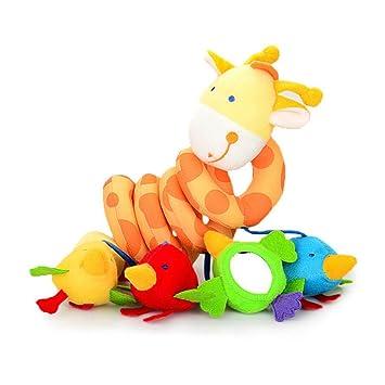 YeahiBaby infantil bebé juguete colgantes para cochecitos espiral de Animales jirafa lindo coche bebé cinturón de