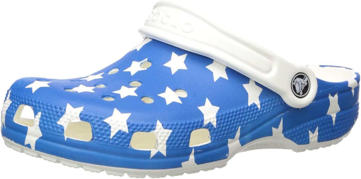 Crocs Kids' Classic American Flag Clog