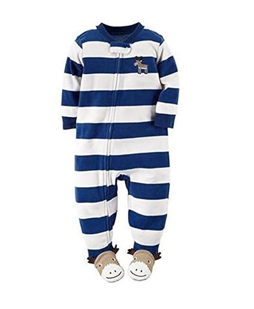 327f912dab74 Amazon.com  Carter s Boy s Size 5T Fleece Striped Moose Blanket ...