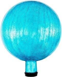 Achla Designs G10-T-C Gazing, Teal 10 inch Glass Garden Globe Ball Sphere, 10