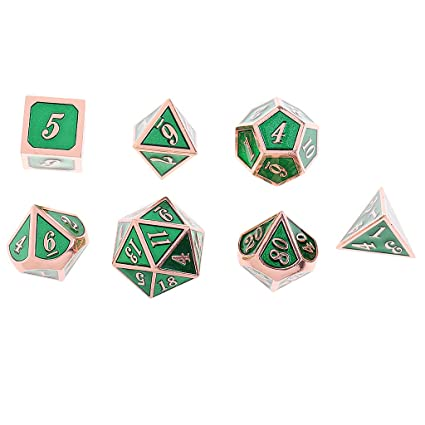 41fa0ef03af Buy Prettyia 7Pcs/Pack Dices Set Multisided Dies Card Game Accs for MTG DND  Gaming Props - Golden Light Green Online at Low Prices in India - Amazon.in