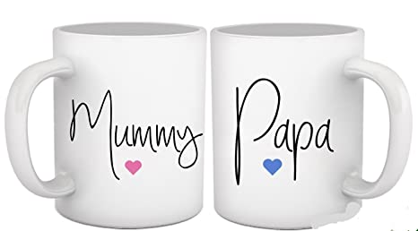 Gift For Mom Dad Set Of 2 Coffee Mugs