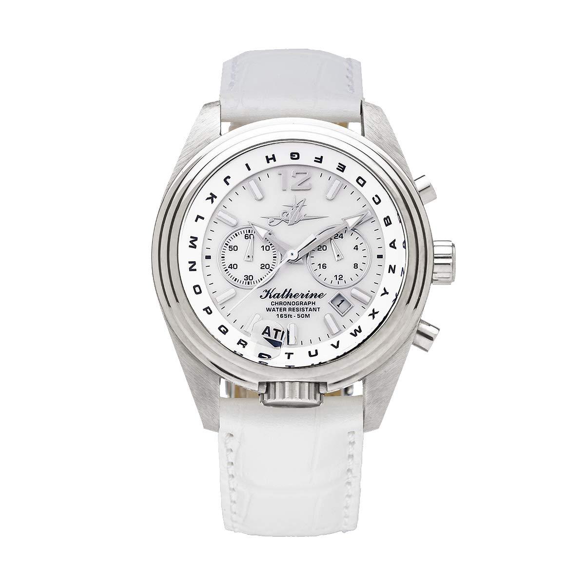 "The Abingdon Co Women's ""Katherine"" Japanese Quartz Stainless Steel Analog Casual Watch (White)"