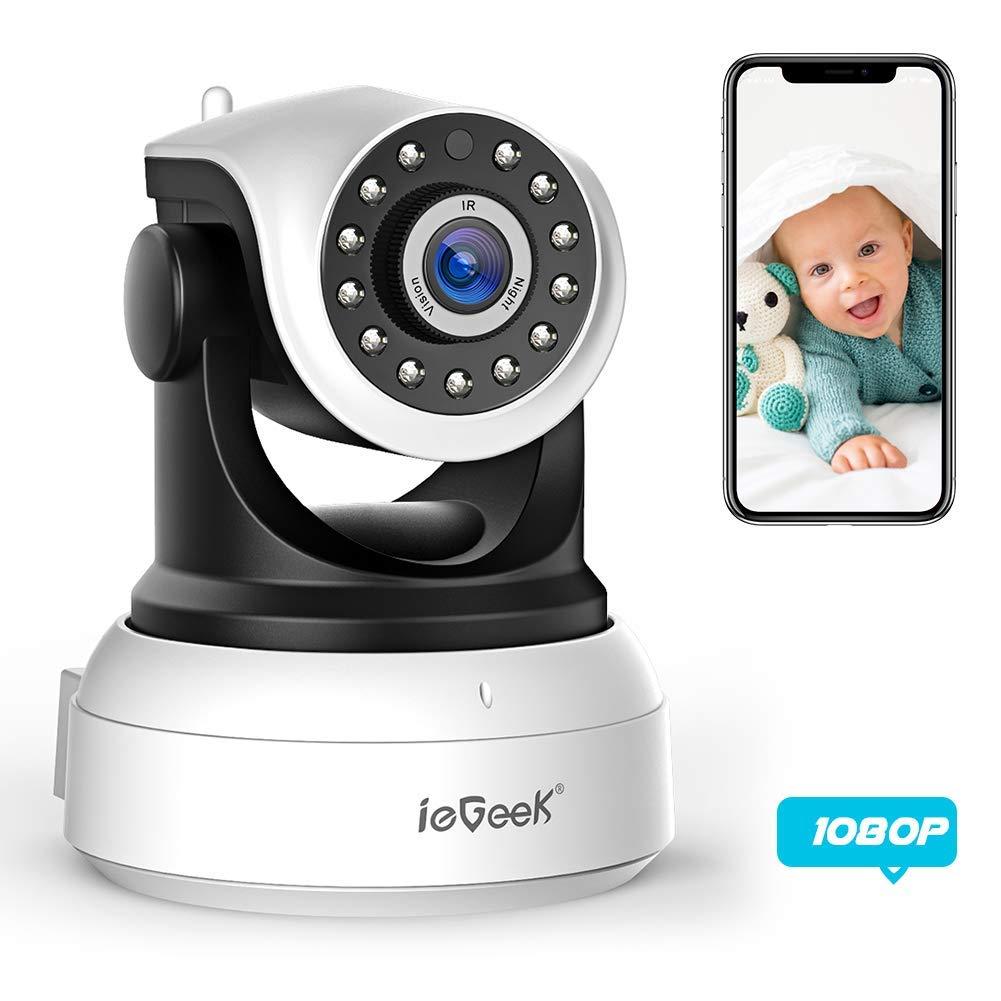 ieGeek 1080P Cámara de Vigilancia WiFi Cámara IP Interior HD P2P Pan/Tilt, CCTV