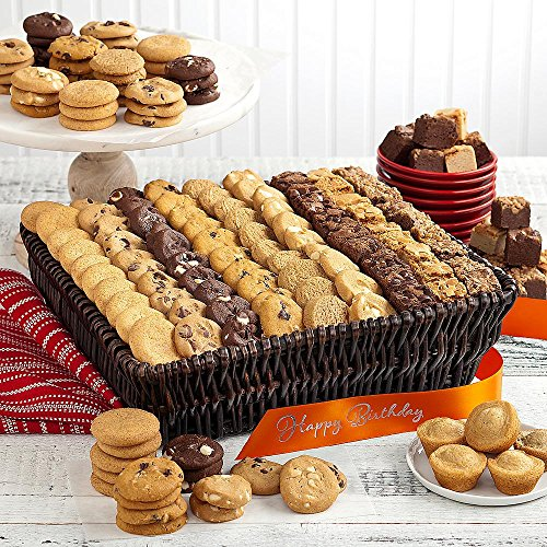 Shari's Berries - Mrs. Fields Classics, Grand with Happy Birthday Ribbon - 1 Count - Gourmet Baked Good Gifts