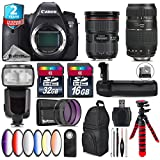 Canon EOS 6D DSLR Camera + Canon EF 24-70mm 2.8L II USM Lens + 70-300mm Macro Lens + Pro Flash + Battery Grip + 6PC Graduated Color Filer Set + 2yr Extended Warranty + 32GB - International Version