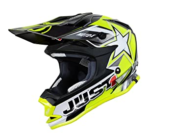 Just 1 Helmets - J32 Moto X Casco de Motocross, Amarillo, ...