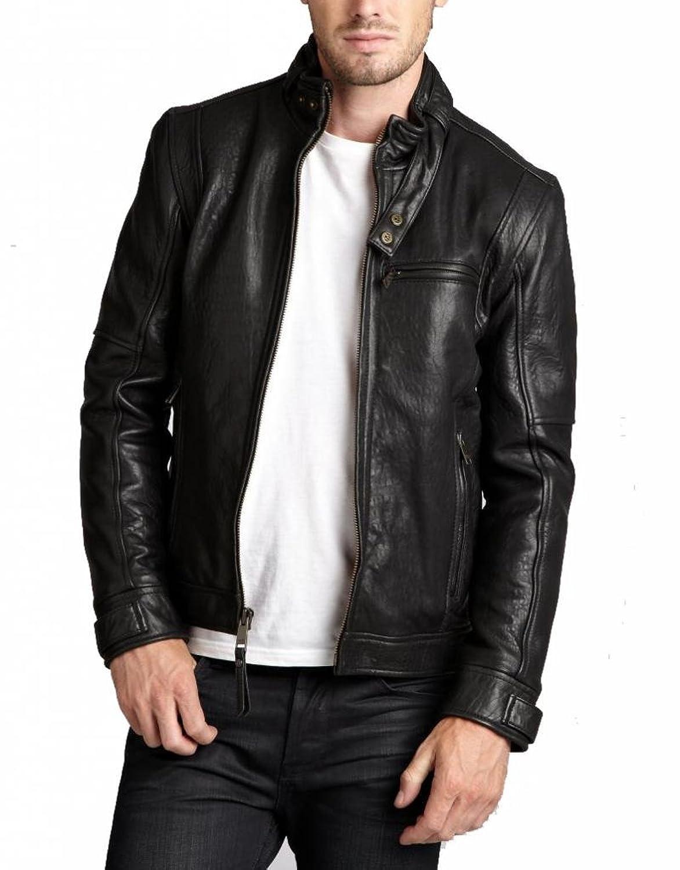 ABDys Men's Lambskin Leather jacket DKC773 Black