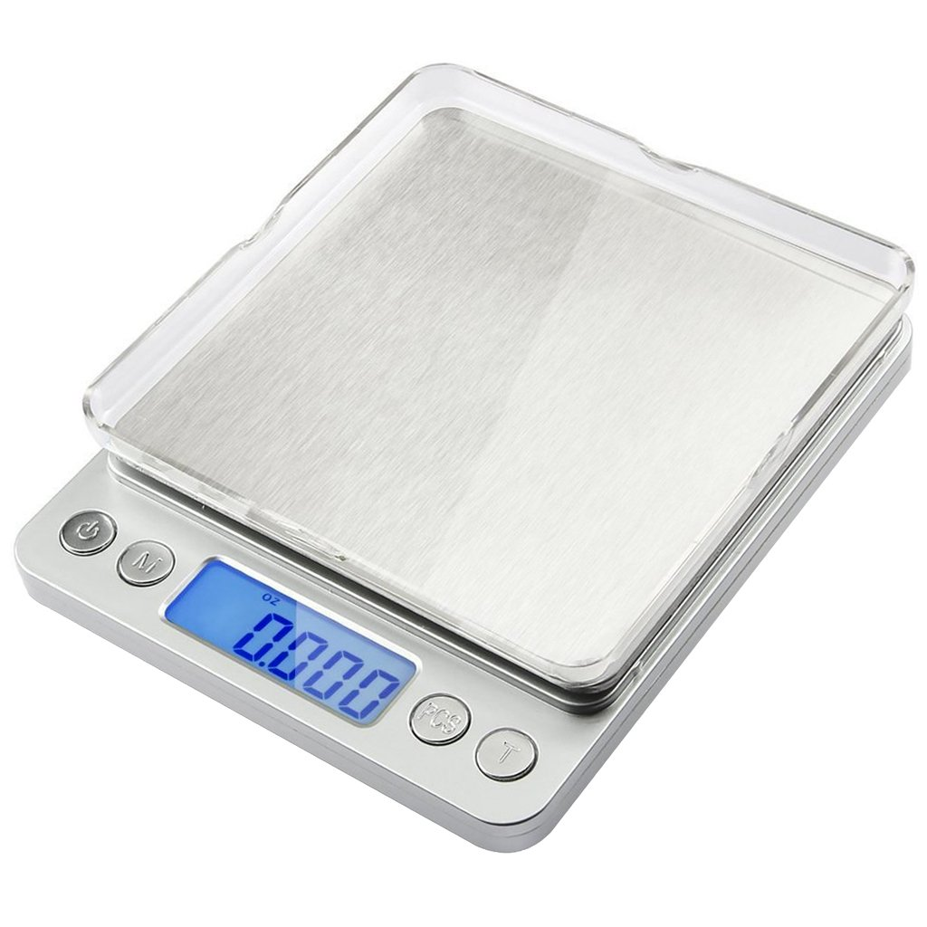 3000g 0.01oz/ 0.1g food scale, E2BUY Digital Pro Pocket Scales, Batteries Included, Electric Jewelry Scales with Back-Lit LCD Display, Tare and PCS Features for Easter, Stainless Steel