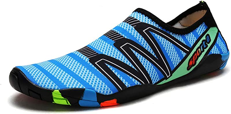 KUNSHOP Men Women Water Shoes Slip-on Aqua Shoes Quick Dry Barefoot Skin Socks