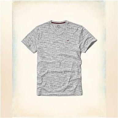 Hollister HCO Logo - Camiseta para Hombre (Talla S), diseño de Rayas, Color Gris: Amazon.es: Ropa y accesorios