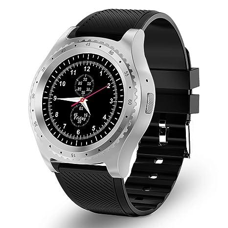 Reloj Inteligente Bluetooth Smartwatch con Tarjeta SIM y Ranura para Tarjeta TF Supervisión del sueño Podómetro