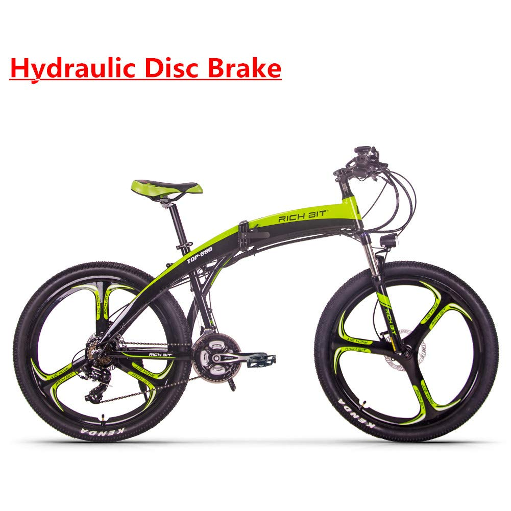 RICH BIT RT-880 E-Bike 250W * 36V * 9.6Ah Actualizado Bicicleta Plegable Mountain Bike MTB LCD Pequeña computadora Smart Electric Bicycle Shimano 21 ...