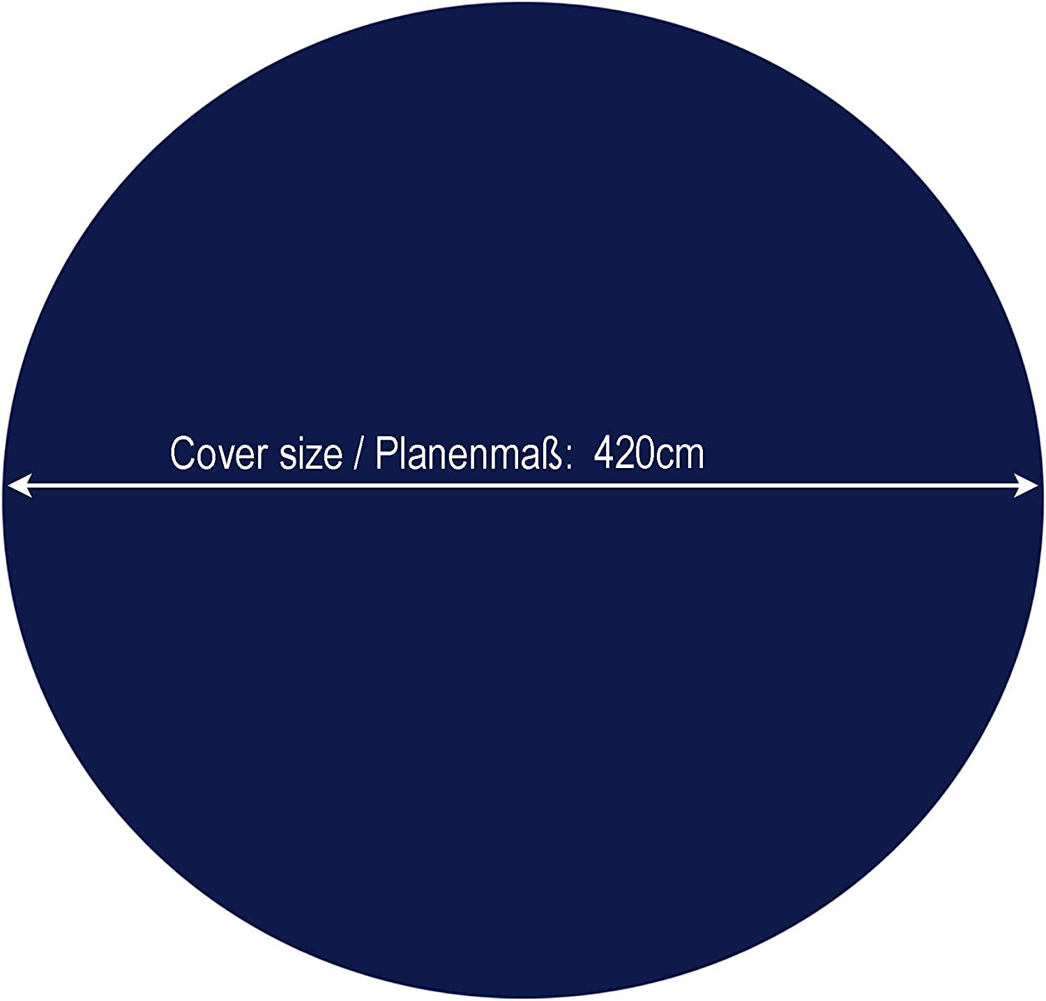 QUICK STAR Winter Swimming Pool Cover Round 200g//m/² for Poolsize 320-366 cm Tarpaulin dimension /ø 420 cm Blue