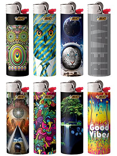 BIC Special Edition Prismatic Series Lighters, Set of 8 Lighters