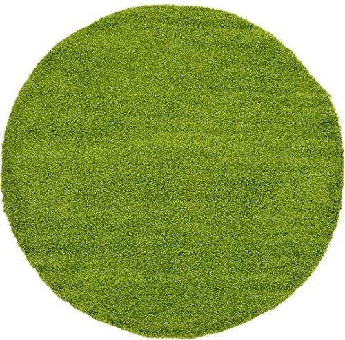 Green 8' Round Area Rug - 1