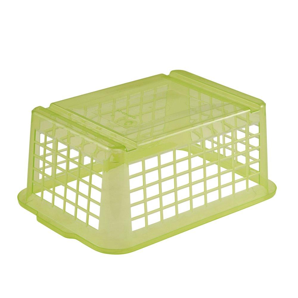 OKT 2053616 Panier Plastique Vert 25 x 17 cm