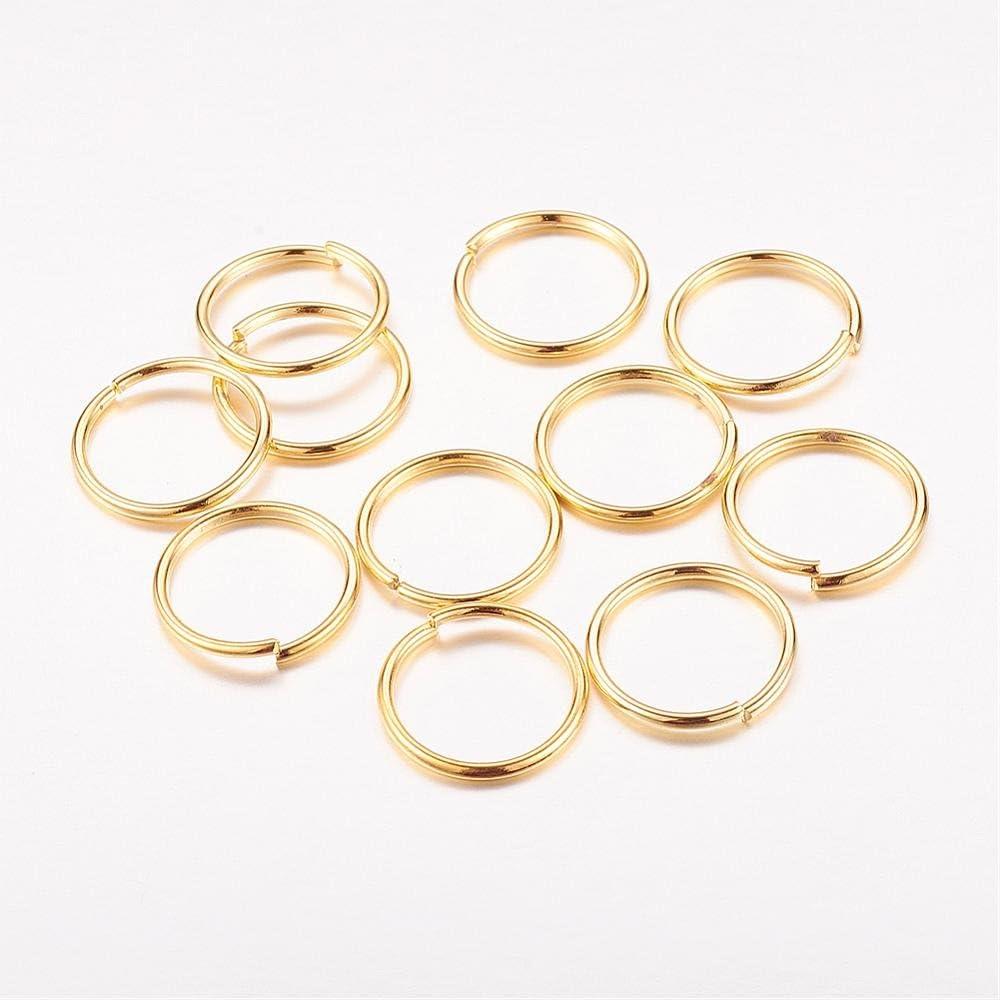 /100/pezzi oro A partire dal Fashion 07/matrice Anelli 14/mm Oro Colori 10/