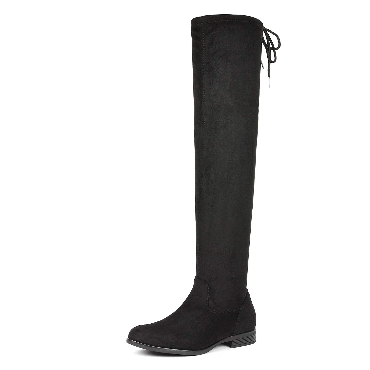 c9247b649a9 DREAM PAIRS Women s Suede Over The Knee Thigh High Winter Boots product  image