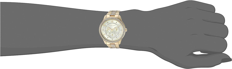 Michael Kors Runway Stainless Steel Watch Gold Glitz Multifunction
