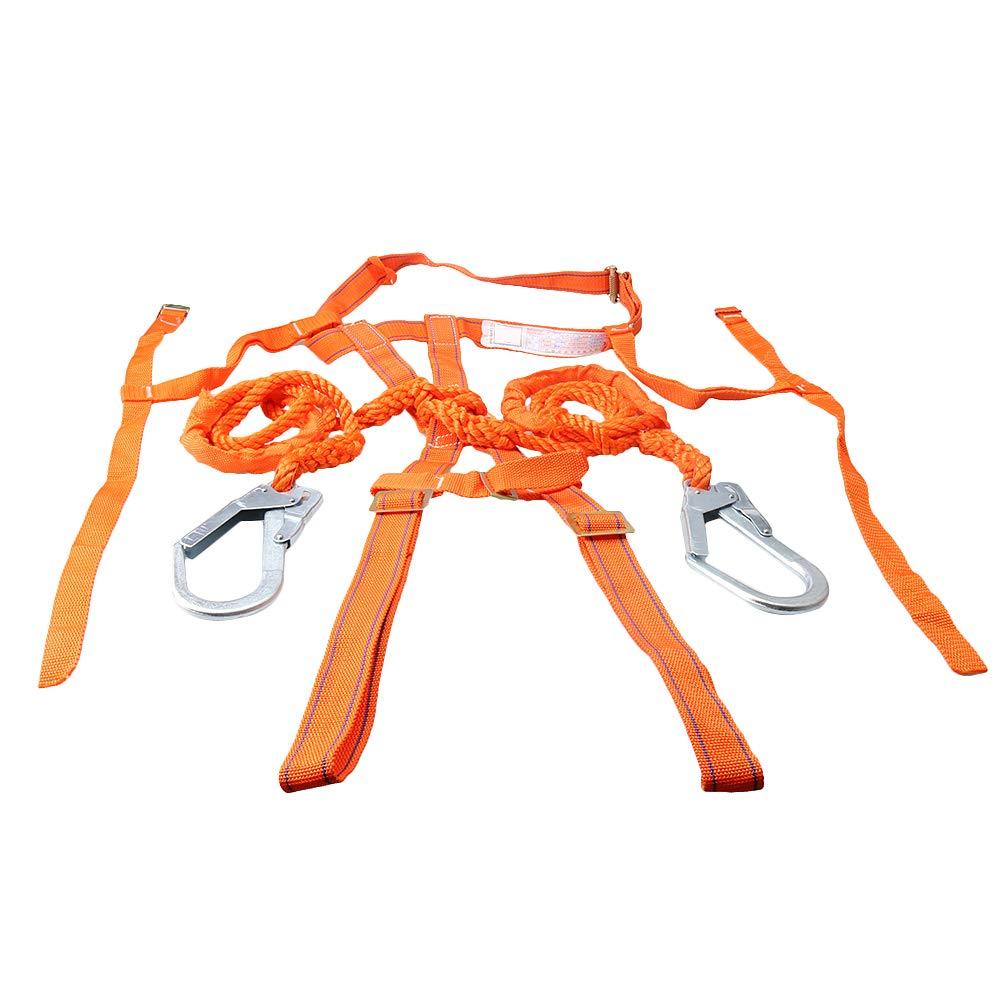 Fallschutz-Set Absturzsicherung Vollk/örper Auffanggurt Fallschutz Geschirr Safety Fallsicherung Schutzausr/üstung Seill/änge betr/ägt ca. 2m