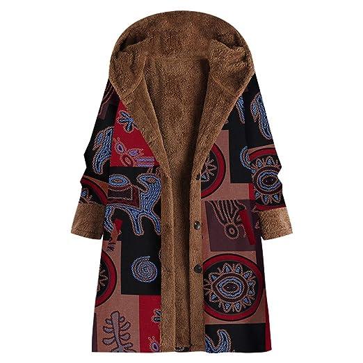 Abrigo De Felpa Con Costuras Estampadas Vintage Para Mujer ...