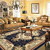 FADFAY Home Textile,Modern European Rug,Elegant Floral Jacquard Room Floor Mats,Fashion American Rustic Carpets For Living Room Modern
