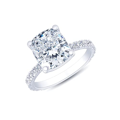 c386e08bccbcb KING OF JEWELRY Natural, Not Enhanced, Cushion Cut Pave Diamond ...