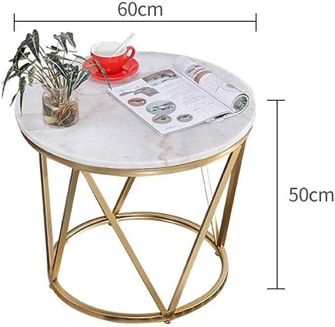 RANRANJJ Muebles Muebles rústicos Granja Ronda de mármol café Mesa Decorativa de la Sala de Arte en Hierro Inicio: Amazon.es: Hogar